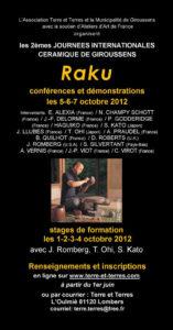 affiche 9 | Terre et Terres | Journées Céramique | Les 2e Journées Internationales Céramique de Giroussens du 1er au 7 octobre 2012 | Article | Terre et Terres | 1 avril 2018