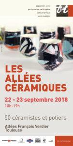 affiche Allees Ceramique 2018 | Terre et Terres | Marché Toulouse | Les Allées Céramiques à Toulouse les 22 et 23 septembre 2018 | Article | Terre et Terres | 20 septembre 2018