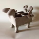 Sculpture 2 dhilde Segers | Hilde Segers | Terre polie enfumée | Hilde Segers | Terre polie enfumée | Atelier | Terre et Terres | 14 janvier 2020