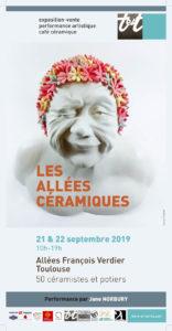 Affiche Allées 2019 | Terre et Terres | Marché Toulouse | Les Allées Céramiques à Toulouse 21 et 22 septembre 2019 | Article | Terre et Terres | 12 septembre 2019