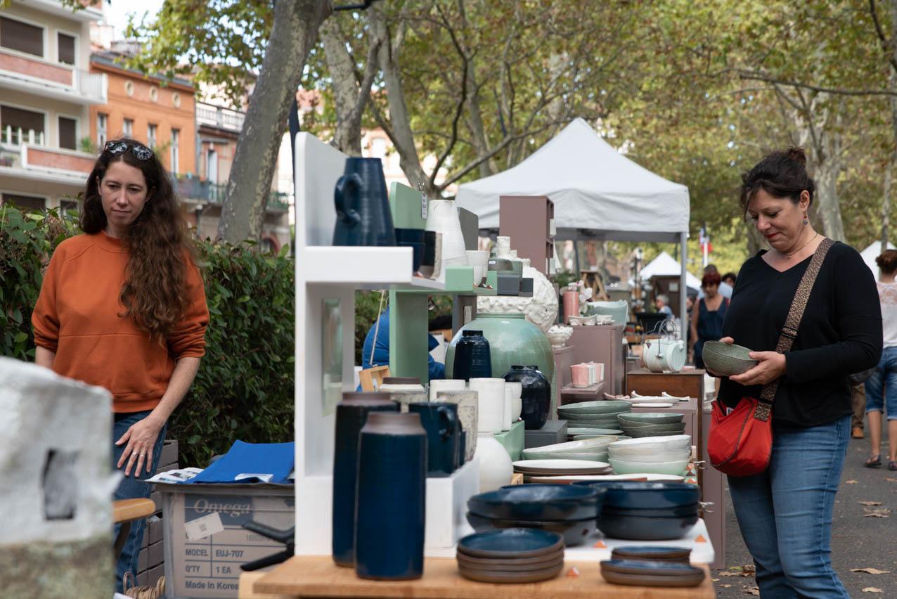 Allees ceramiques 2019 01 Photo JLogeay | Terre et Terres | Marché Toulouse | Les Allées Céramiques à Toulouse les 25 et 26 septembre 2021 | Article | Terre et Terres | 17 janvier 2021