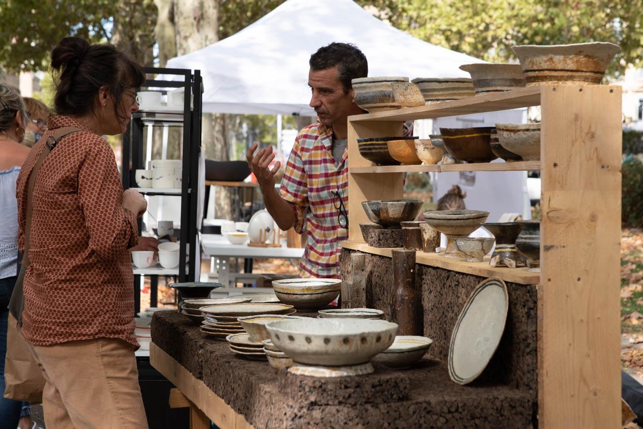 Allees ceramiques 2019 Stand ChristopheDeBellefroid Photo JLogeay | Terre et Terres | Marché Toulouse | Les Allées Céramiques à Toulouse les 25 et 26 septembre 2021 | Article | Terre et Terres | 17 janvier 2021