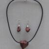 ChrisGullon collier BO 0075 | Chris Gullon | Parure : collier et BO, perles en terre patinée | Produit | Terre et Terres | 17 décembre 2020
