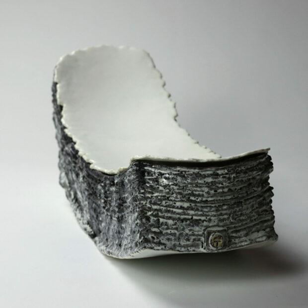 Entre2mondes 5 scaled | Eric Faure | Entre deux mondes | Produit | 685,00€ | 7254 | Sculpture en grès porcelainique et porcelaine émaillés | Eric Faure | Terre et Terres | 20 décembre 2020
