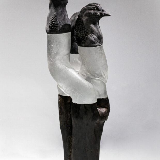 pate de verre 2 | Nathalie Charrié | birdy guys | Produit | 1.250,00€ | 17186361 | Pâte de verre, grès enfumé, bois - 2020 | Nathalie Charrié - Artiste céramiste | Terre et Terres | 10 décembre 2020