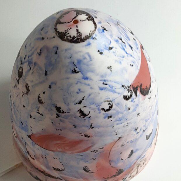 20210519 184426 scaled | Flore Loireau | lampe bleue | Produit | 130,00€ | 8518 | Lampe en porcelaine fine | Flore Loireau | Terre et Terres | 20 mai 2021